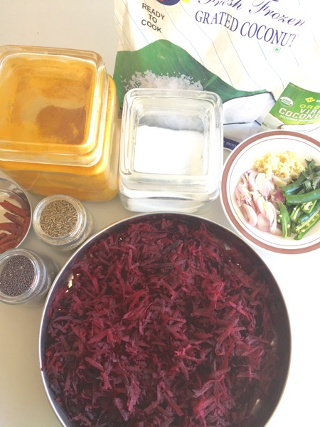 how to make beetroot upperi